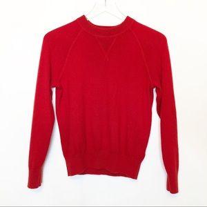 Everlane Cashmere Red Crewneck Sweater
